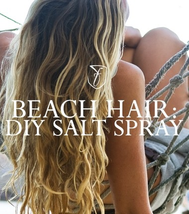 How to make your own DIY sea-salt spray for summer