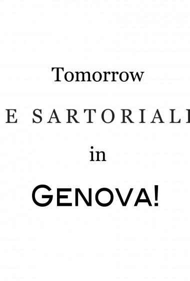 The Sartorialist in Genova!