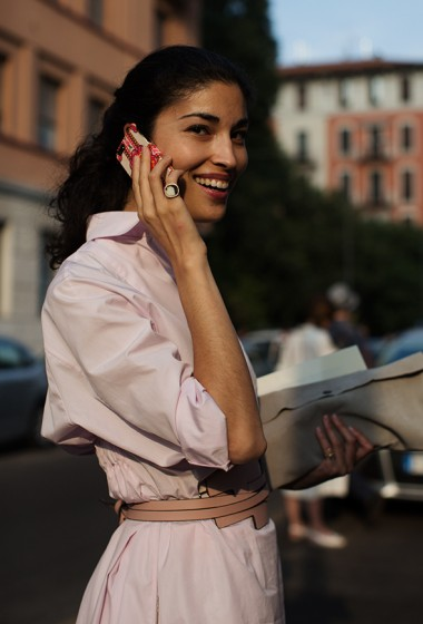 On the Street…..Caroline Issa, Milan