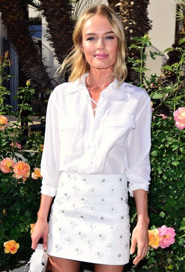 Kate Bosworth Is Garden Party Perfect In A Lace-Up Top