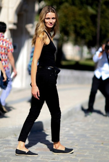 Model-Off-Duty Style: Get Edita Vilkeviciute's All-Black Summer Look