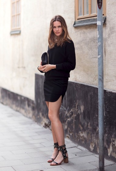 Get Caroline Blomst's Crazy Cool All-Black Look