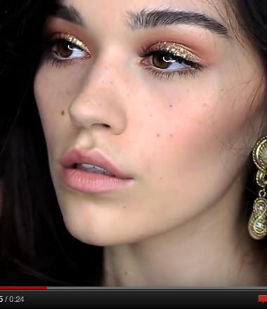 5 gold glitter beauty looks for glamorous nights