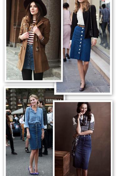 Inspired By | Denim Skirts