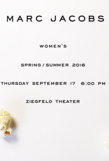 You're Invited: Marc Jacobs Spring/Summer 2016 Runway Show