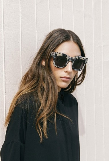 Statement Sunglasses And A Shirtdress Make For An Easy Look