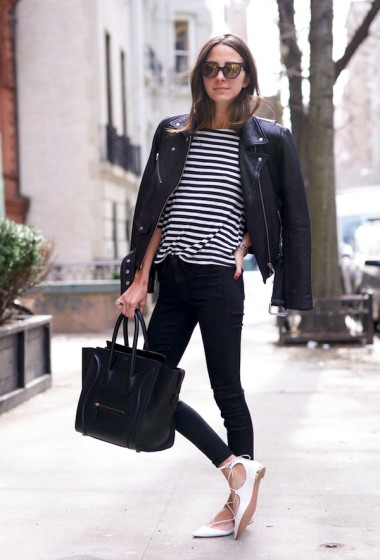See How This Blogger Transitions Lace-Up Flats Into Fall