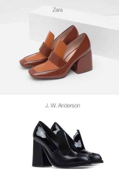 Block Heel Loafers