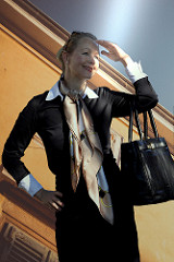 Business lady; how to catch the light….