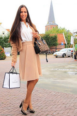 IMG_3770 Casual chic look leopard print skirt street fashion streetstyle dutch