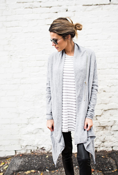 Stripes and Oversized Cardigan Under a $100