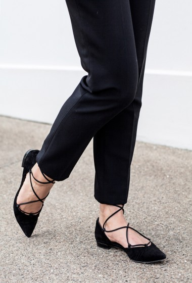A Shoe To Buy: The Lace Up Pointed Flat
