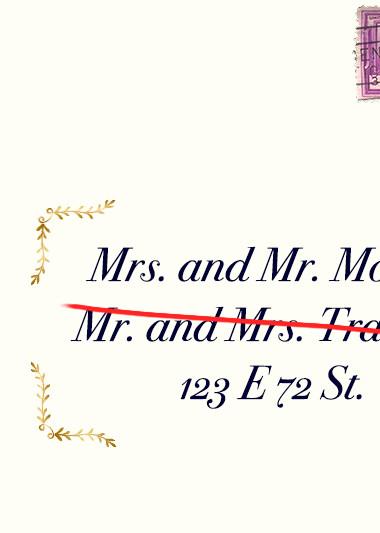 In Marriage, Men Are Taking Women's Last Names