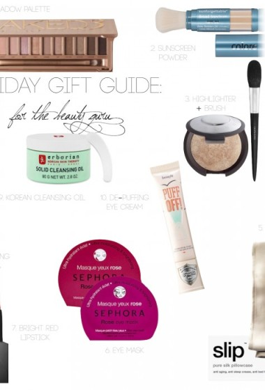 HOLIDAY GIFT GUIDE: For The Beauty Guru!