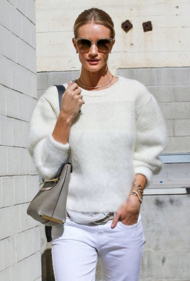 Steal Rosie Hungtington-Whiteley's Casual Cool All-White Look