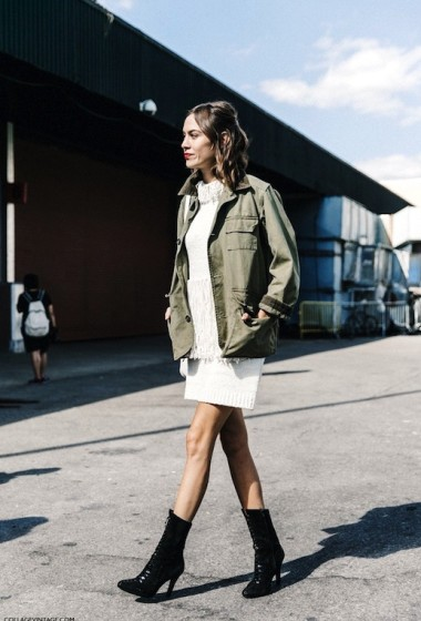 Steal Alexa Chung's Fringed Sweater Dress Look