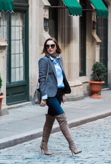 Tweed Blazers & Turtlenecks