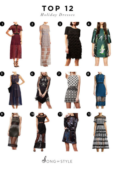 Top 12 Holiday Dresses