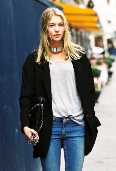Street Style: Elevate Your Classic Look With A Sleek Choker