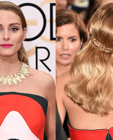 Get the look (Beauty): Olivia at the Golden Globes