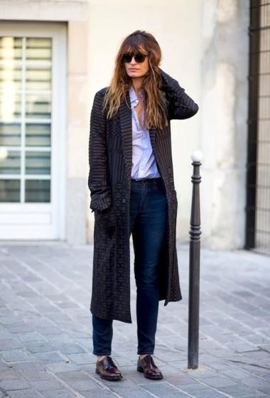 Caroline De Maigret Masters Menswear-Inspired Street Style