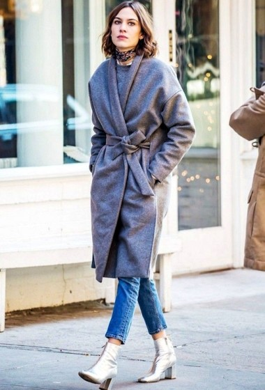 Alexa Chung Makes A Chic Case For Metallic Ankle Boots