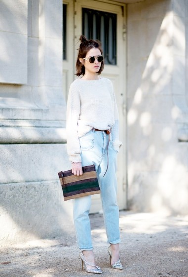 Street Style: A Cool Feminine Way To Rock Slouchy Jeans