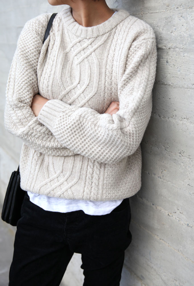 How To Layer A Cozy Cable Knit Sweater
