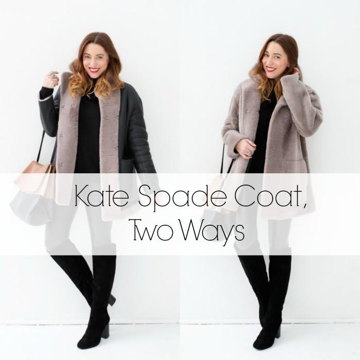 Kate Spade Coat Two Ways