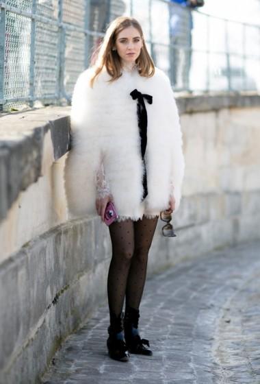 Chiara Ferragni does flirty but edgy: in Paris