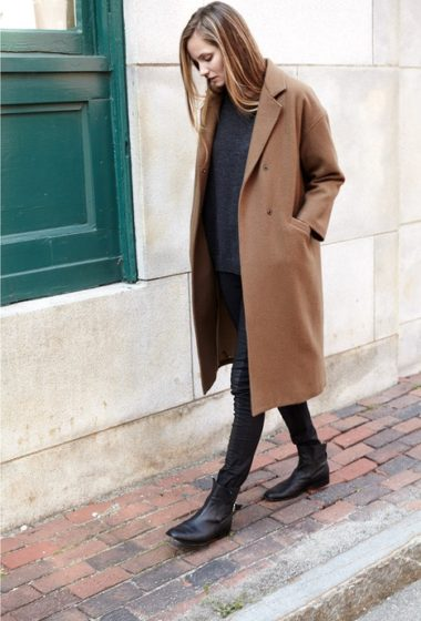 A Minimalistic Way To Style A Camel Coat