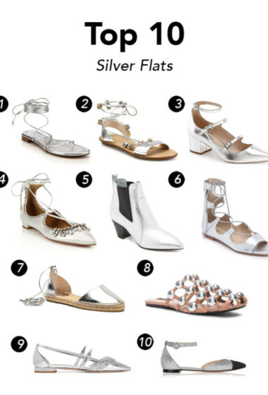 Top 10 Metallic Silver Flats