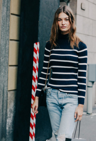 Model-Off-Duty Style: Snag Ophelie Guillermand's Striped Look