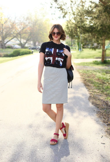 What I Wore | Little Black Concert Tee