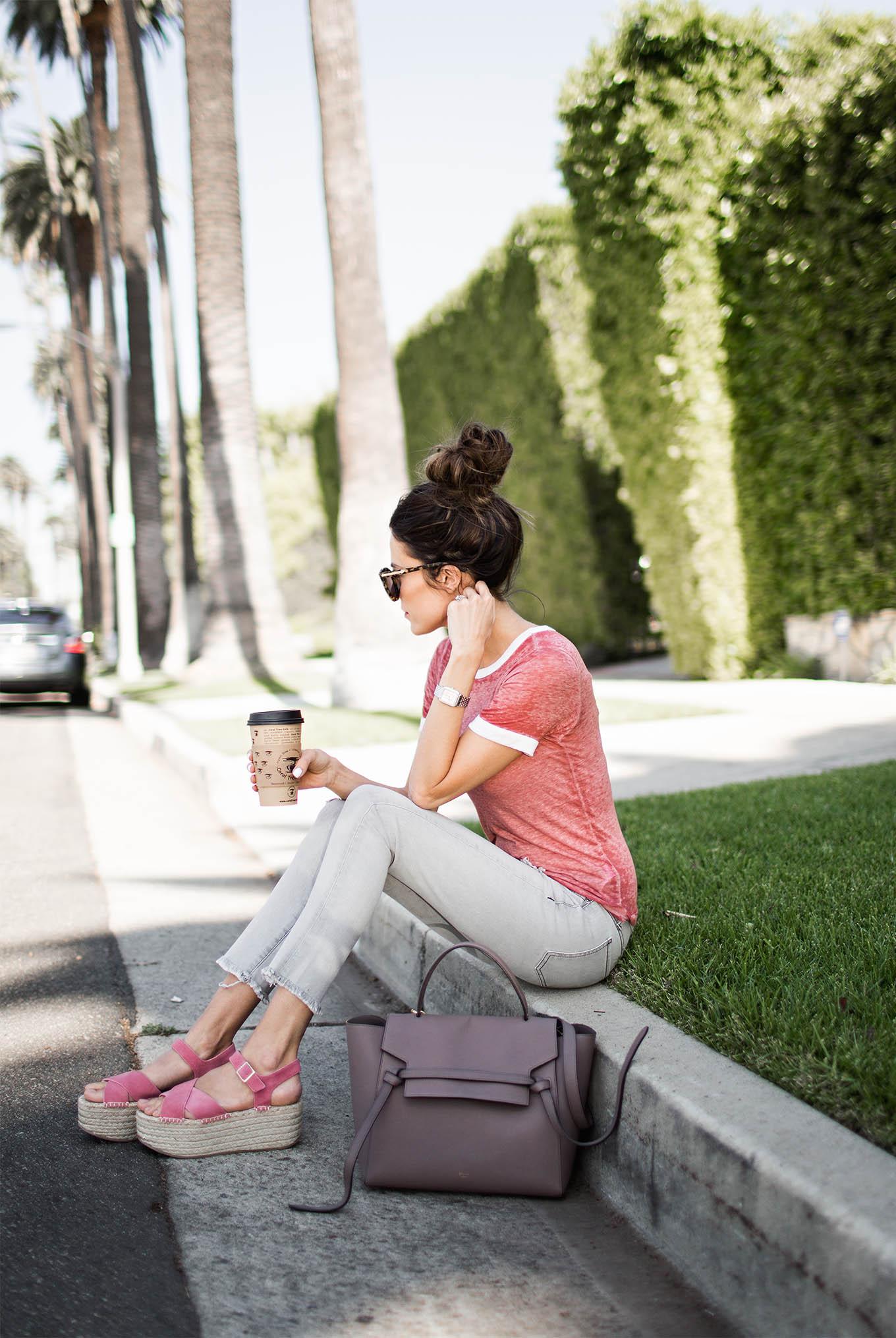 pink platform sandals hello fashion blog