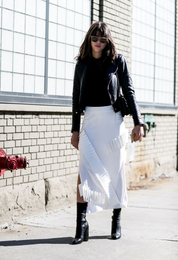 new york street style black and white outfit