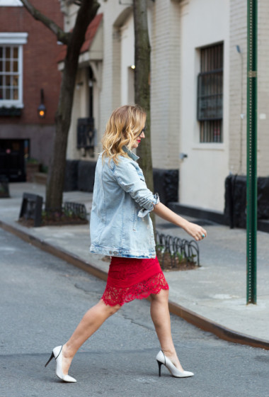 Outfit Remix: Nicole Miller Red Lace Dress