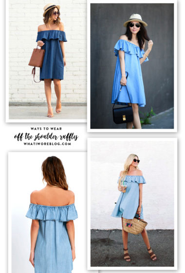 Inspired By   Off the Shoulder Ruffles