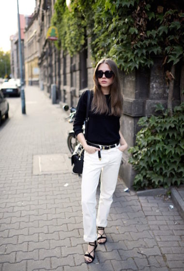 A Cool Black and White Look to Try Now