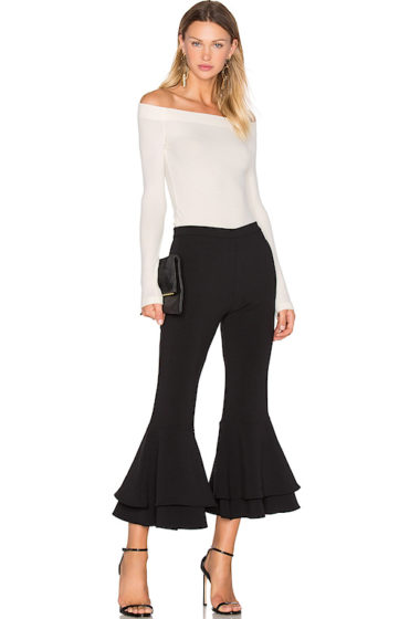 Under $200: Cropped Double Ruffle Pant