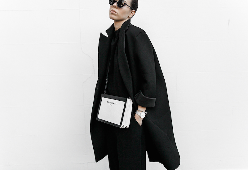 all black ootd outfit street style inspo fashion blogger minimal modern legacy Instagram Balenciaga bag loafer (1 of 11)