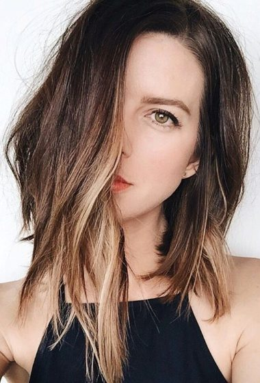 Hair Crush: The Long Asymmetrical Ombré Bob