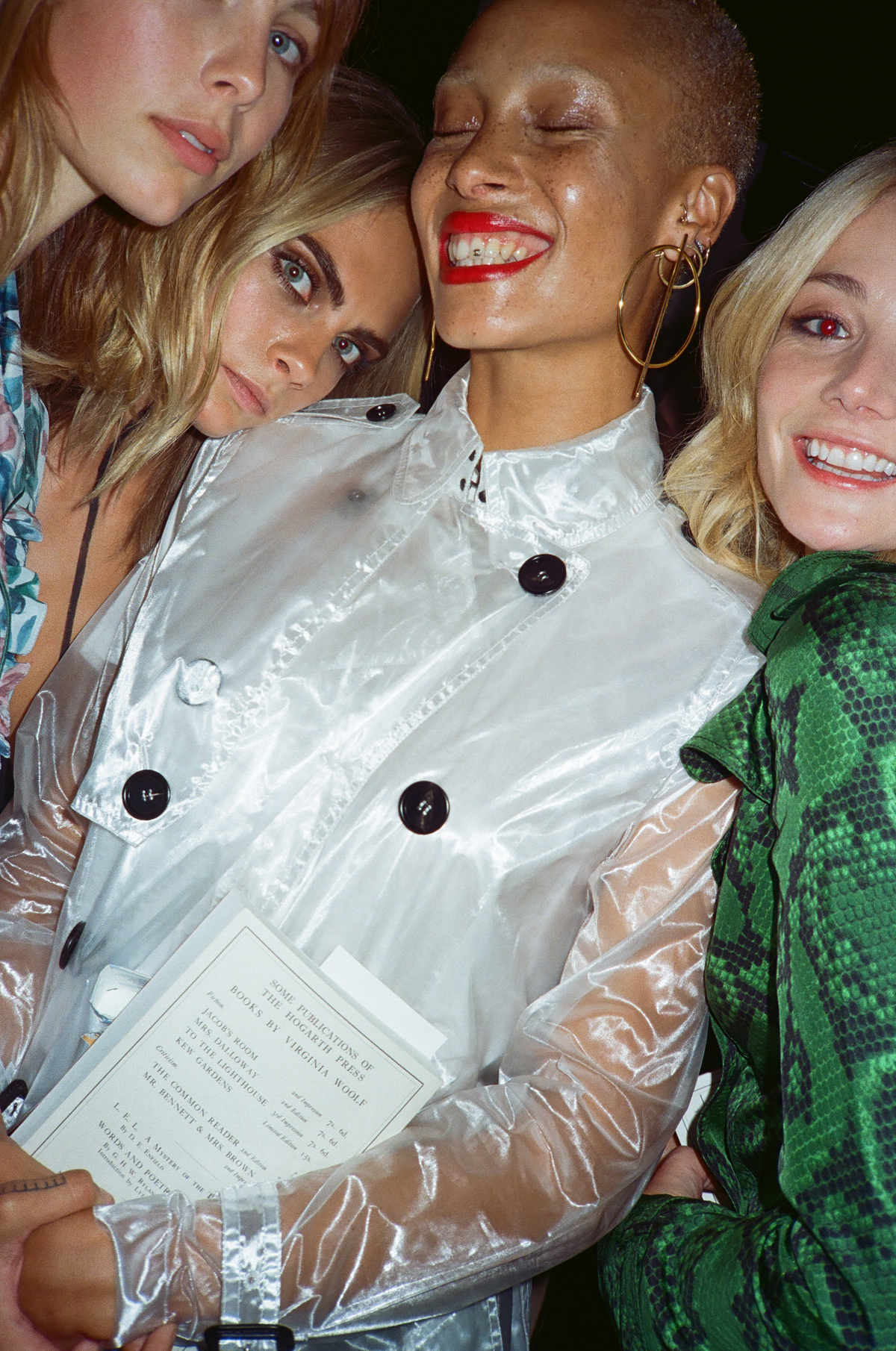 Edie Campbell, Cara Delevingne, Adowa Aboah, Clara Paget @ Burberry