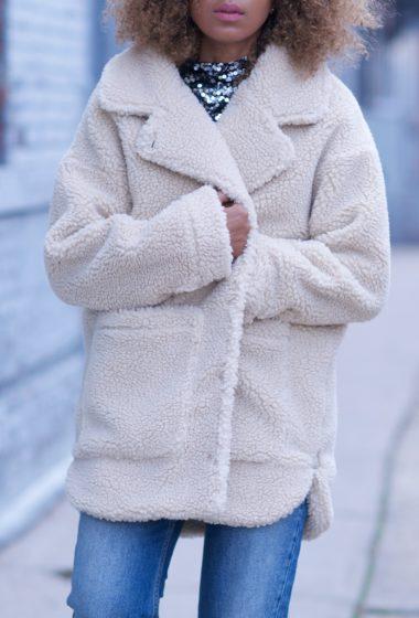 Monki Teddy Coat