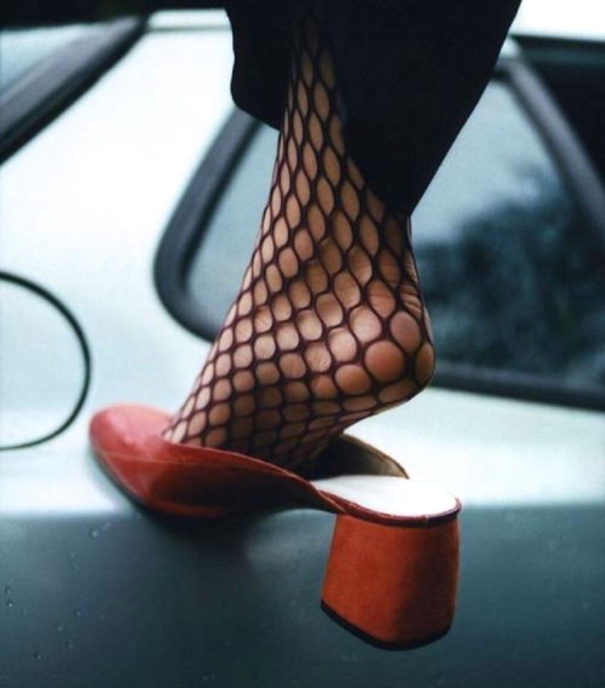 how to wear block heel mules