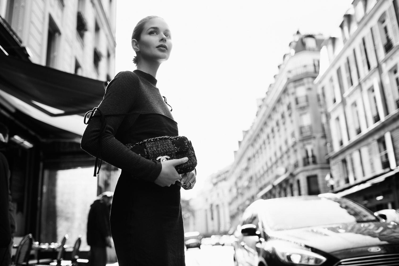 Paris Street Style | Chanel tweed bag | Harper and Harley