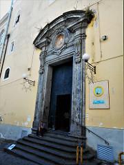 Portal (1737) by Francesco Solimena (Canale di Serino 1657-Naples (Barra) 1747) – San Giuseppe dei Vecchi Church in Naples