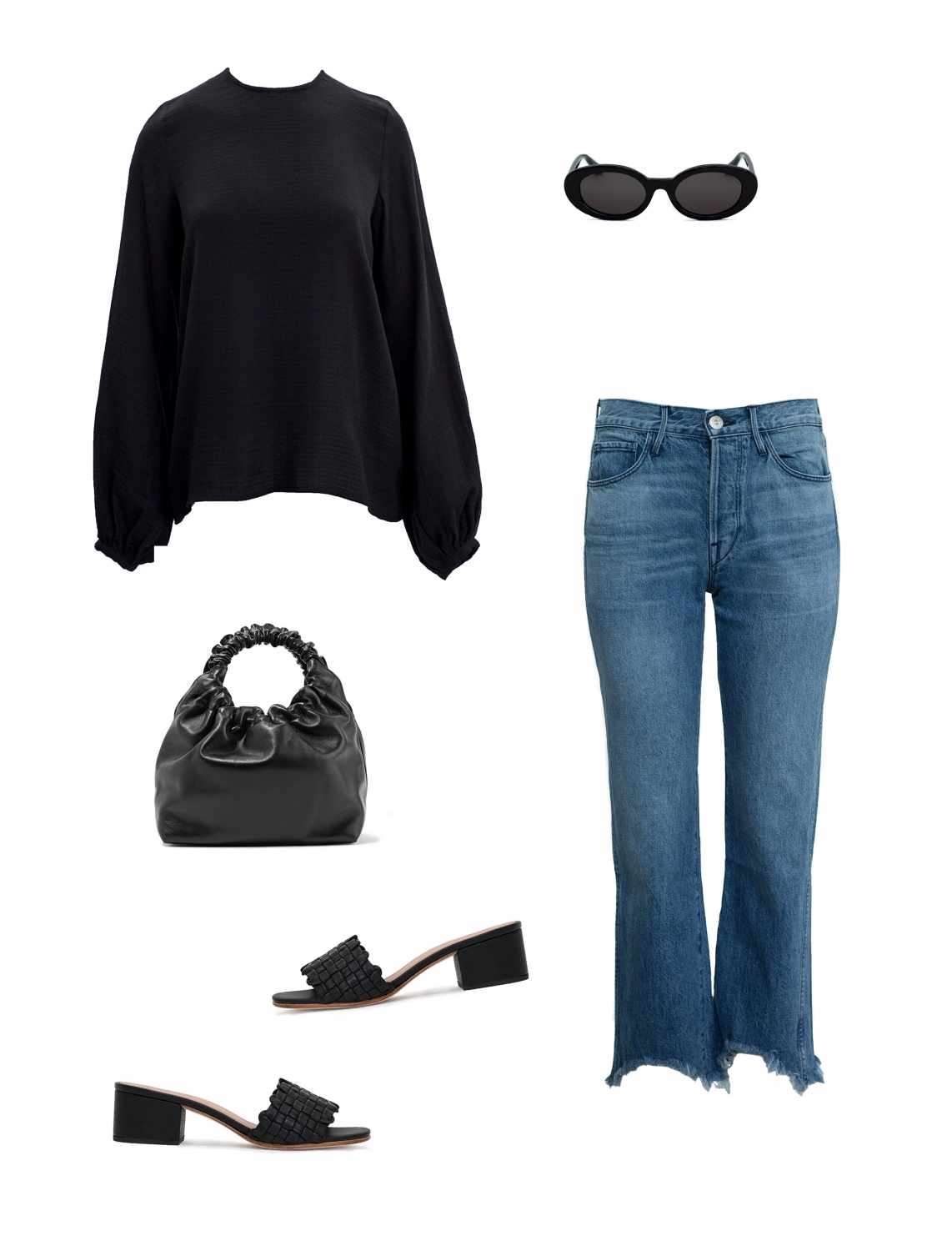 Black and Denim | Outfit Inspo | Harper and Harlehy