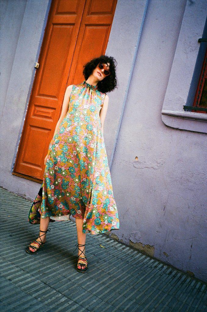 chloe hill in kate sylvester floral dress