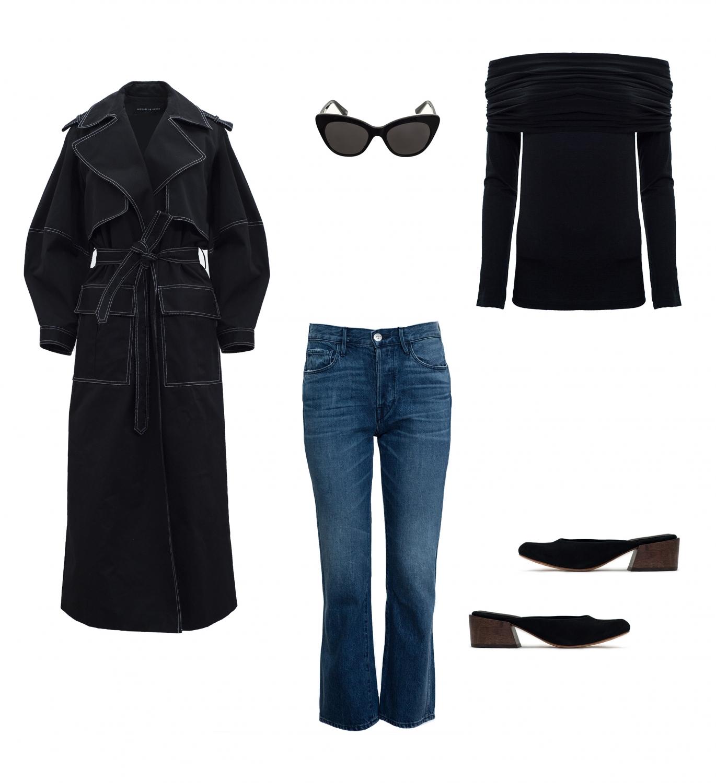 Michael Lo Sordo black coat | Paris Georgia Basics | Mari Giudicelli Leblon mules | HarperandHarley shopping edit